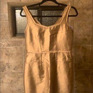 NWT Rachel Zoe gold dress